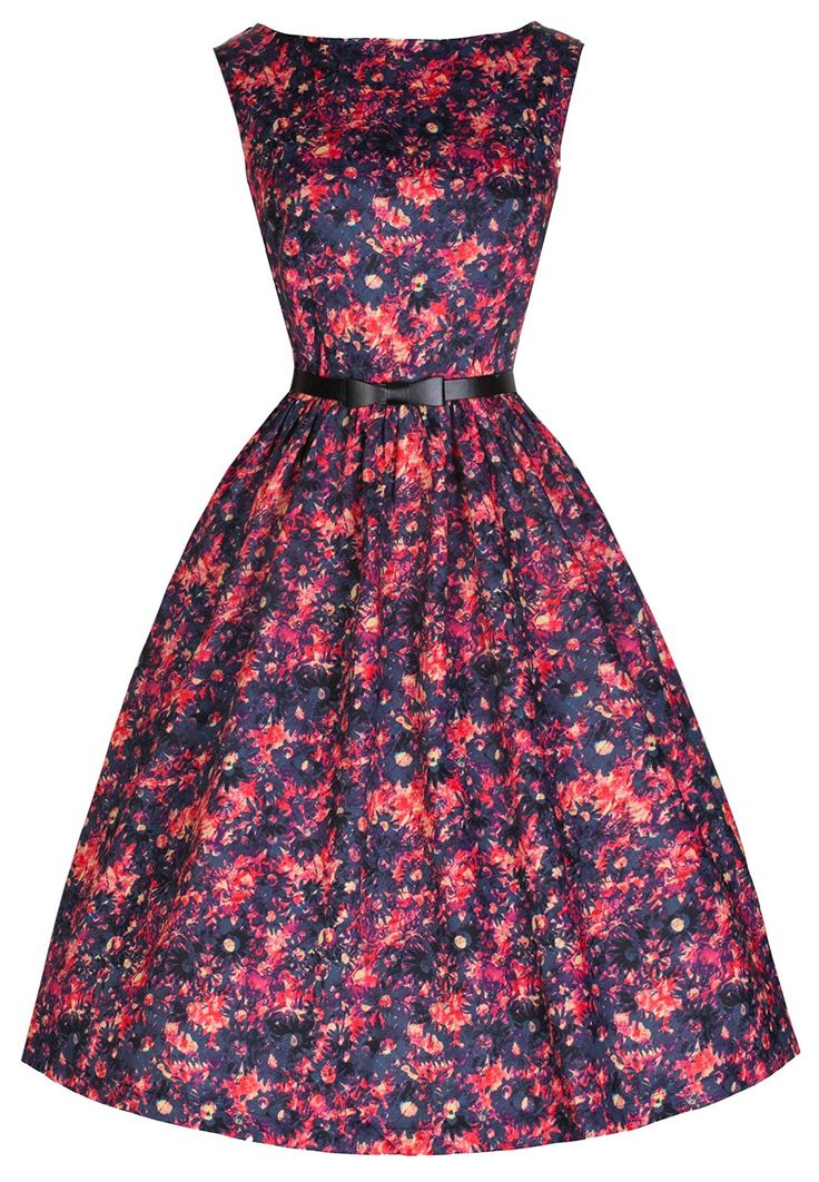 Amazon.com: Lindy Bop 'Audrey' Hepburn Vintage 50's Style Daisy Print Swing Dress (XS, Multi-Coloured): Clothing