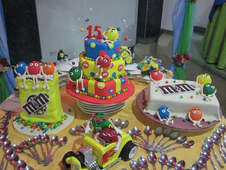 M&M  cakes