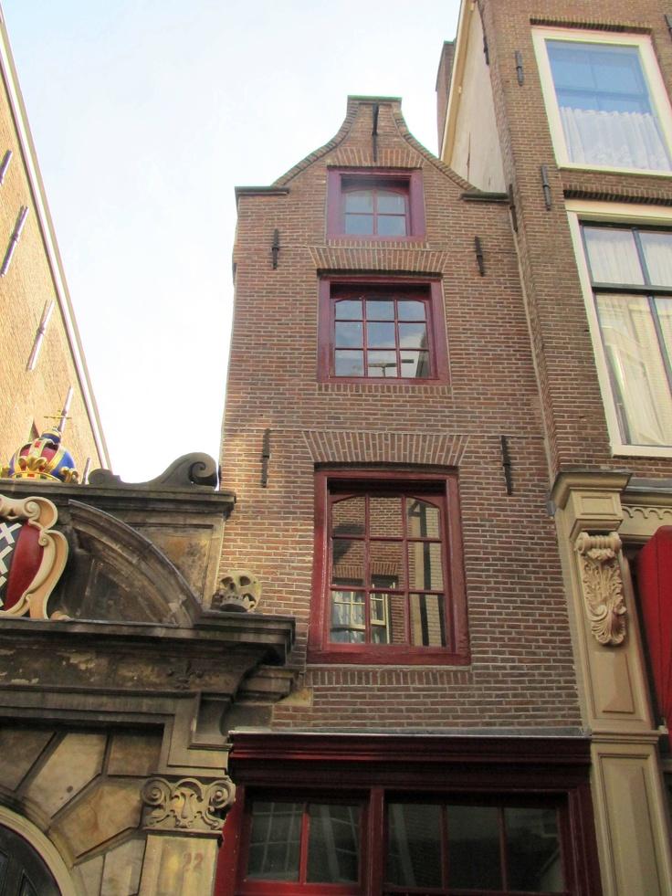 The narrowest house in Europe is at Oude Hoogstraat 22 in Amsterdam. It's 2.02 meter wide and 6 meters deep.