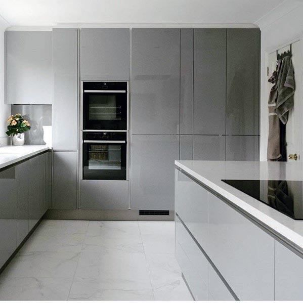 Top 50 Best Grey Kitchen Ideas - Refined Interior Designs ...