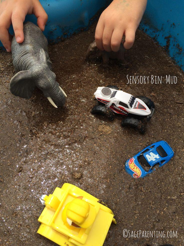 #SensoryBin : Mud #Homeschool