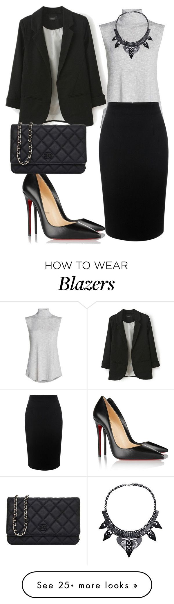 """""""Untitled #108"""" by arijana-cehic on Polyvore featuring NIC+ZOE, Alexander McQueen, Christian Louboutin and Chanel"""