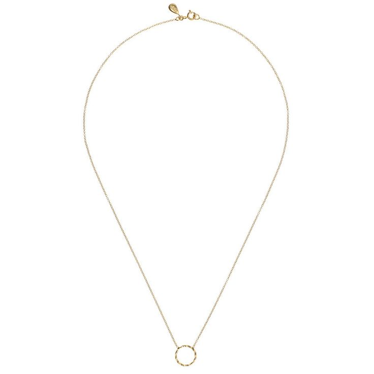 Protective Circle Necklace - Gold