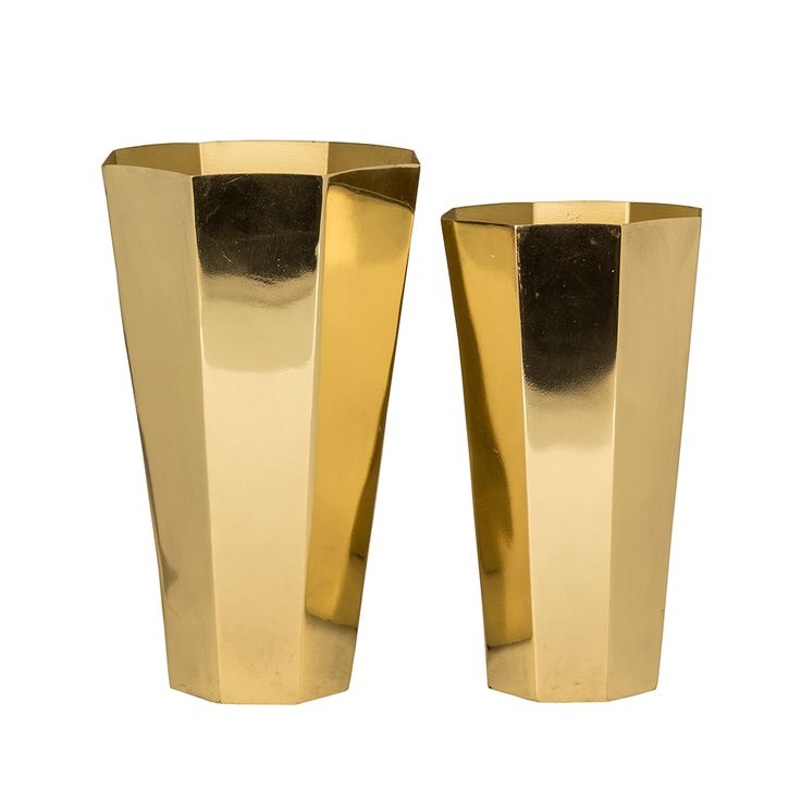 felix vase 2 pcs brass broste copenhagen homeware. Black Bedroom Furniture Sets. Home Design Ideas