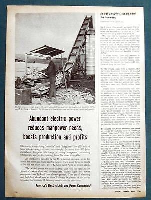 Orig 1956 Electric Co's  Ad Photo Endorsed by C R Hack of Berwick Pennsylvania
