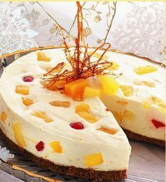No Bake Fruity Cheesecake | Del Monte Philippines http://www.delmonte.ph/kitchenomics/recipe/no-bake-fruity-cheesecake