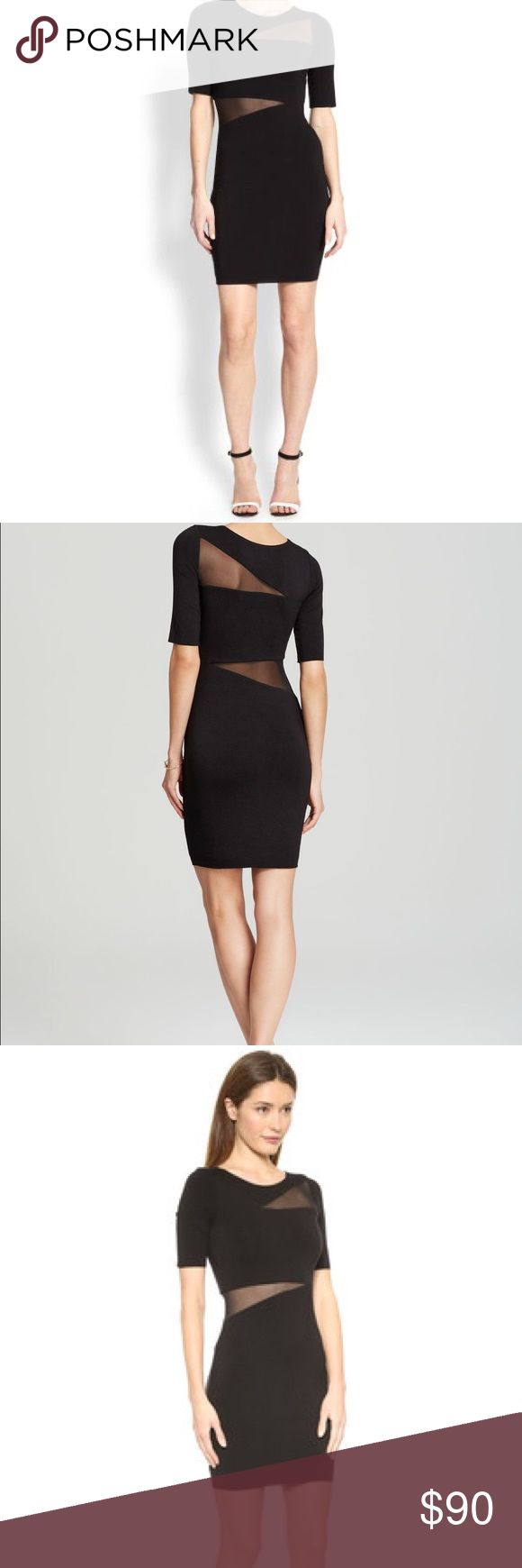 Bailey 44 Black Sheer-paneled Dress Bailey 44 Women's Black Vanishing Point Asymmetrical Sheer-paneled Dress Bailey 44 Dresses