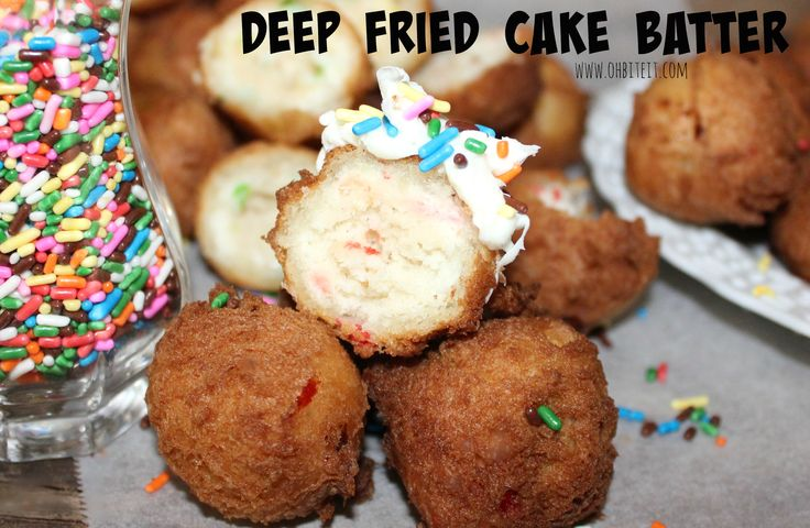 ~Deep Fried Cake Batter! Did these with lemon cake mix last weekend and they turned out sooo yummy!