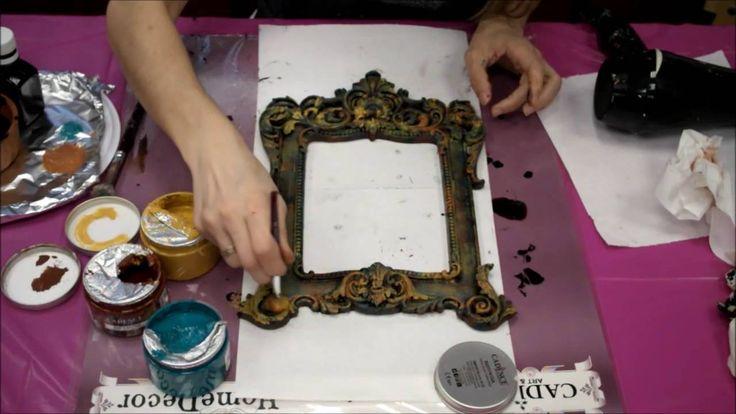 Decoupage con rusty patina cadence Productos distribuidos en España por www.artesaniasmontejo.com