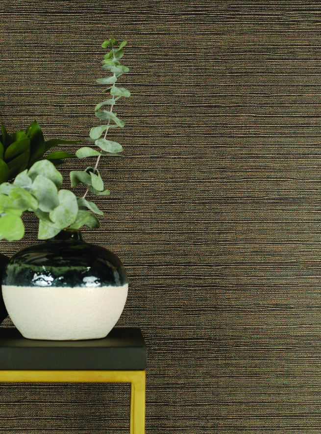 Phraya is a sophisticated hand crafted grass cloth wallcovering with depth and shine from the Natural Wallcoverings collection.