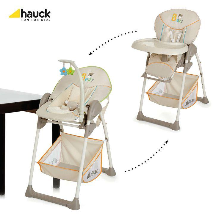 Scaunul de Masa Hauck Sit'n'Relax Bear are un suport reglabil pe sapte niveluri si este dotat cu o tava detasabila si un cos de depozitare pentru accesoriile bebelusului dumneavoastra.