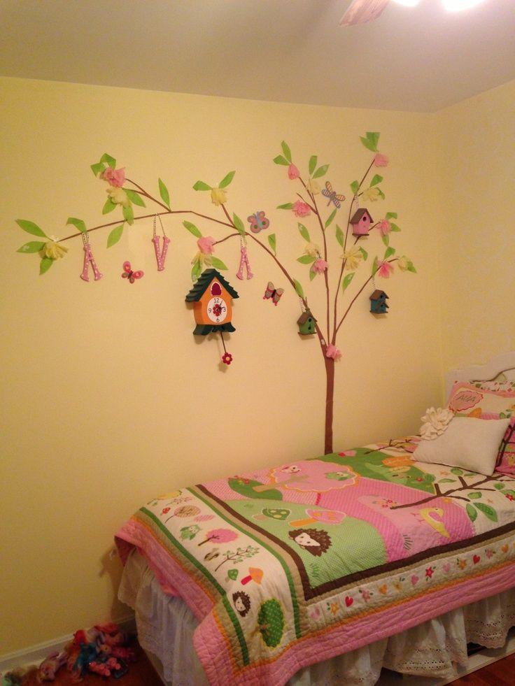 diy wall art in girl's bedroom