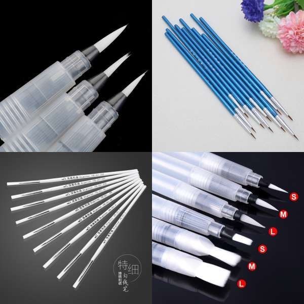 6 Pcs Portable Paint Brush Water Color Brush Pencil Soft