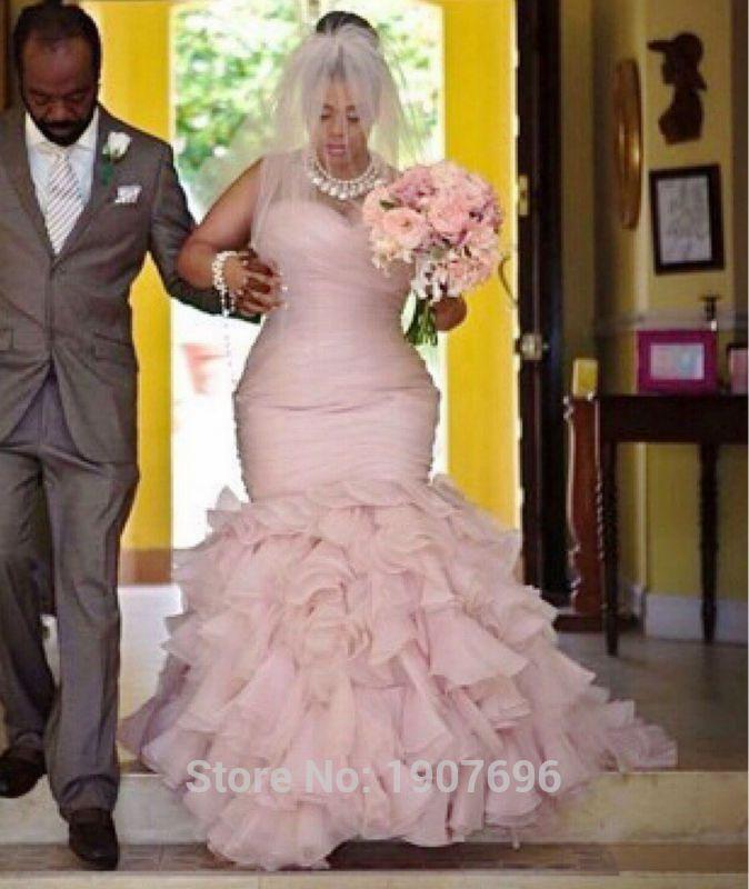 445 best images about size 16 brides on pinterest for Plus size mermaid wedding dresses