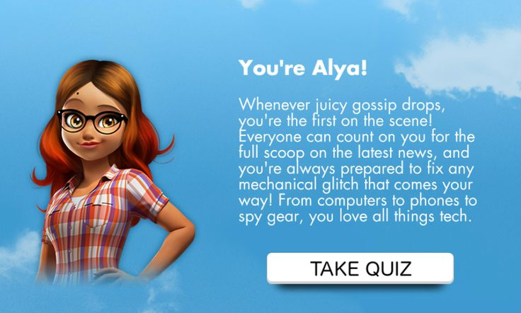 I got alya take the quiz to see who you are in miraculous