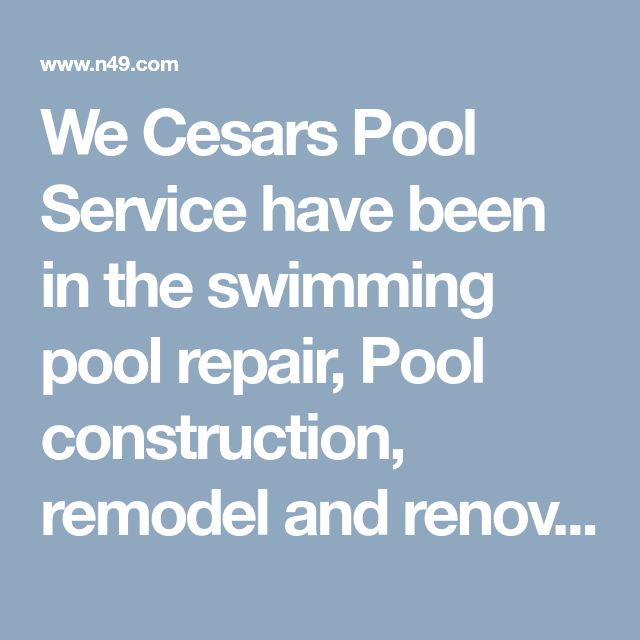 We Cesars Pool Service have been in the swimming pool repair, Pool construction, remodel and renovation with competitively priced programs for every customer in Palm Springs. Providing quality service is what we stand by here at Cesar's Pool Service.