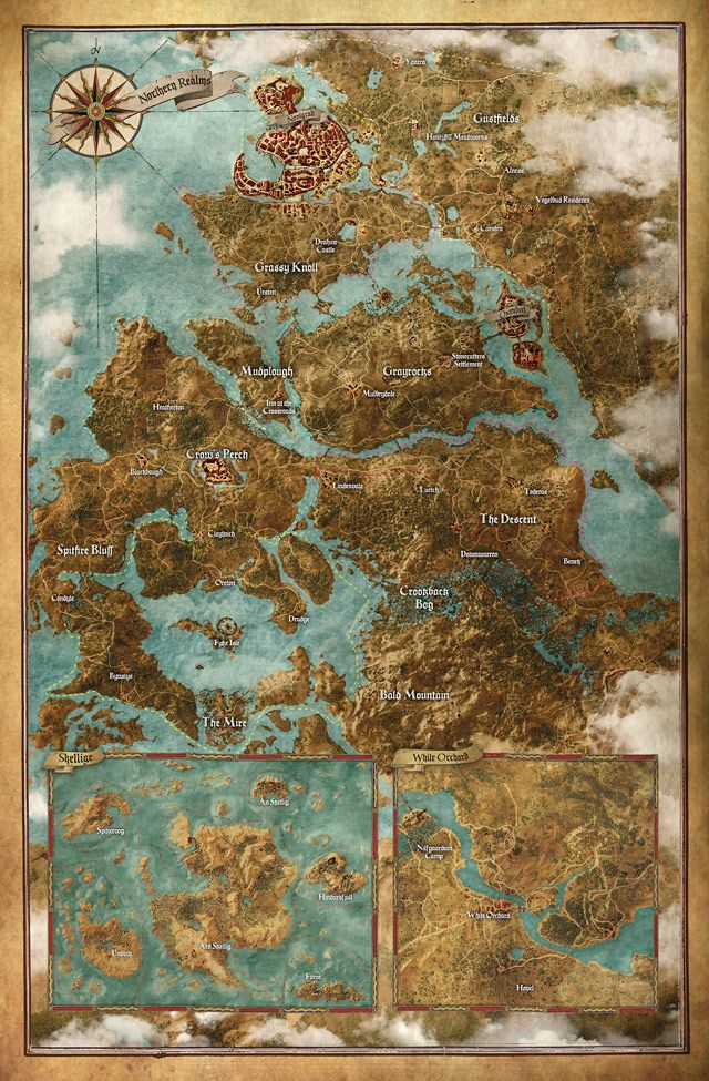 The Witcher 3: Wind Hunt Mapa completo do jogo.