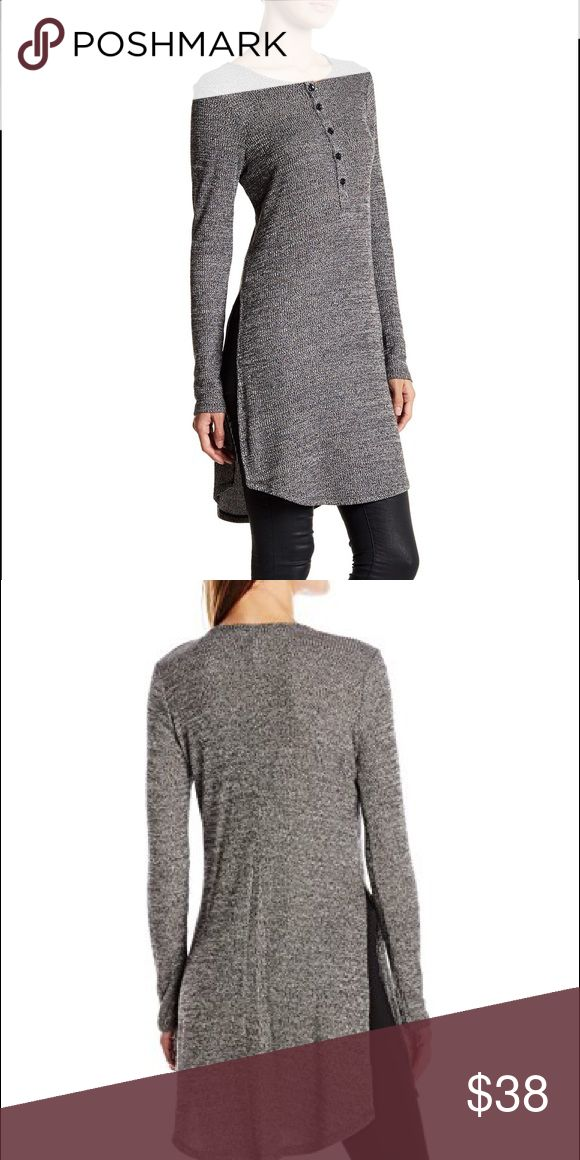 BCBGeneration curved hem henley top Brand new with tags BCBGeneration Tops Tees - Long Sleeve