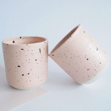 Galaxy Cup handmade pink ceramic cups