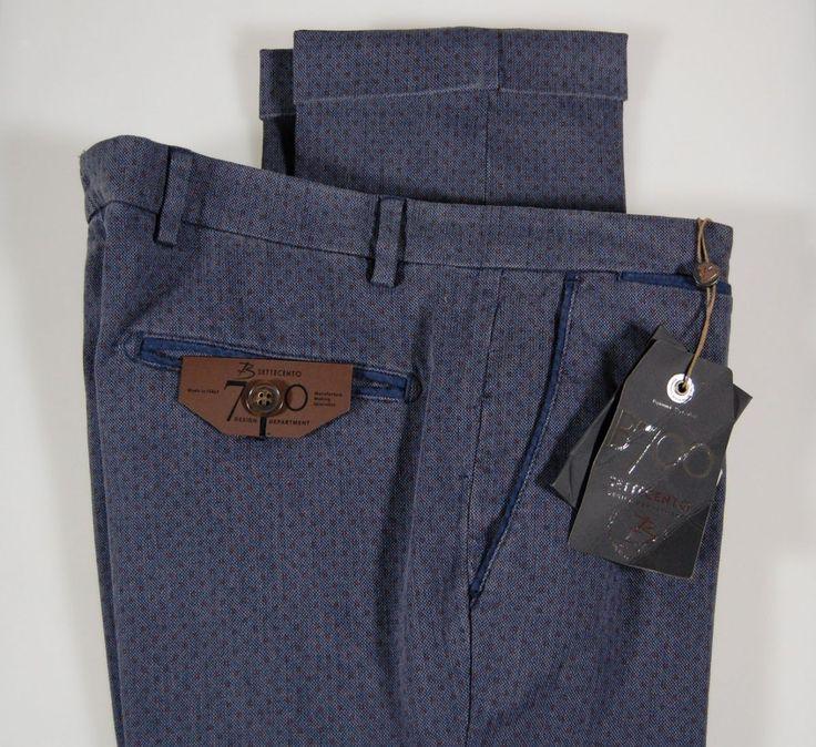 Pantalone slim fit micro fantasia b700 in due colori