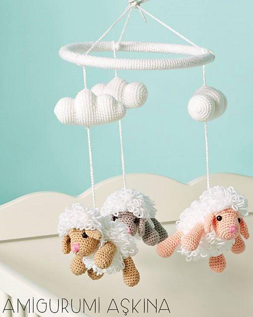 Ravelry: Amigurumi Sheep Baby Mobile pattern by Amigurumi Aşkına