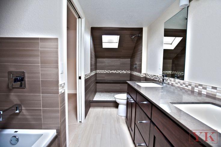 Graniteindenver espresso color bathroom espresso quartz Accent color for gray and white bathroom