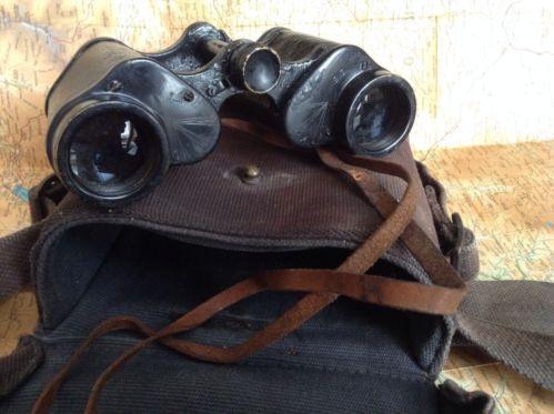 WW2 Era British Military Cased Binoculars by Heath & Co, Broad Arrow War Office