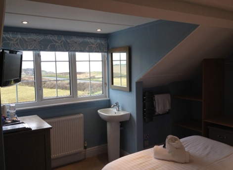 Views hotel room in Bude, North Cornwall