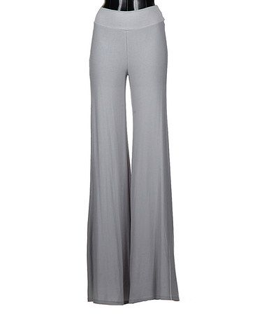 This Gray High-Waist Palazzo Pants by Fashionomics is perfect! #zulilyfinds