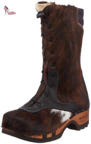 Woody RAMONA 9315/41, Bottes femme - Marron-TR-H4-367, 38 EU - Chaussures woody (*Partner-Link)