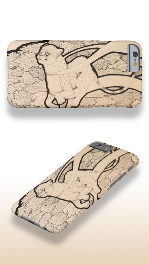 """""""Moving Slow"""" Illustrated Cheetah iPhone 6 Case #products #art #illustration"""