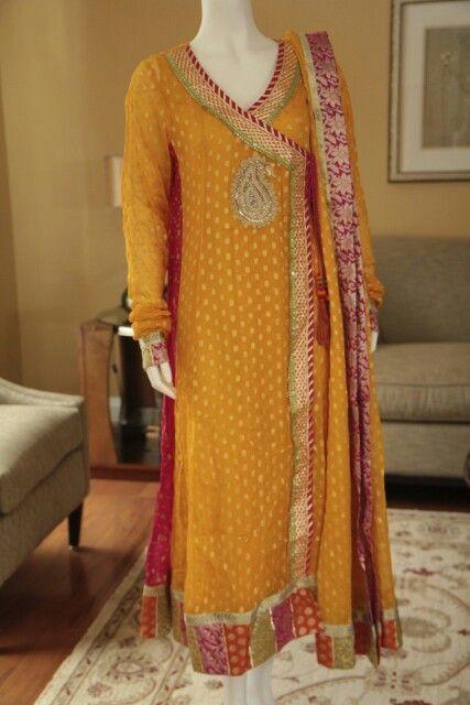 Angrakha Party Wear Frocks & Salwar Kameez For Girls (1)