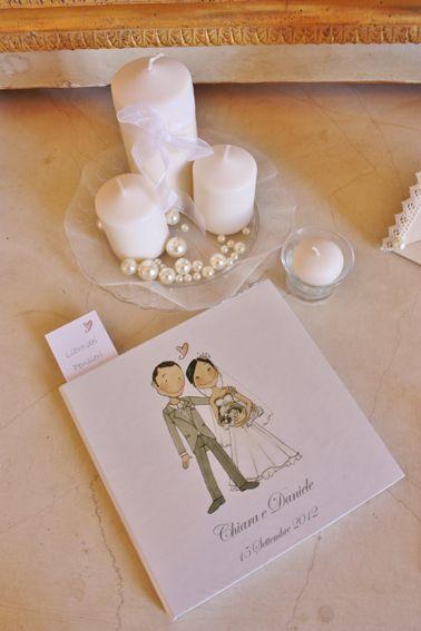 Wedding guest book. Libro degli Ospiti per il vostro matrimonio. Un carinissimo libretto, con copertina personalizzata con il vostro disegno, in cui gli invitati vi potranno lasciare frasi e ricordi del giorno del vostro matrimonio!