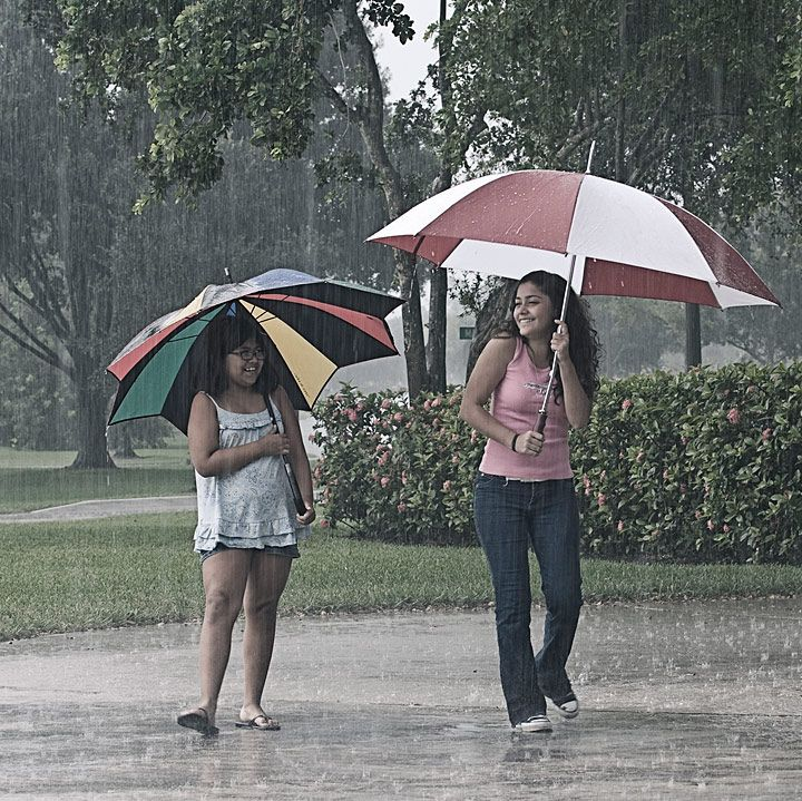Fun in the Rain.  Something a out rain that makes you want to laugh and dance.