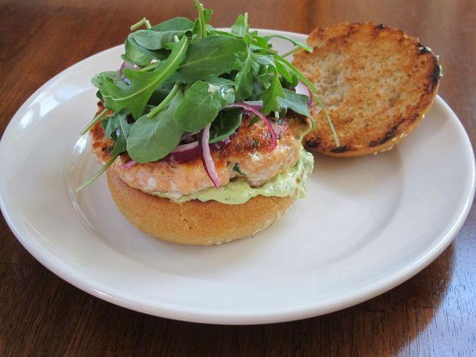 Salmon burgers, Aioli and Salmon on Pinterest
