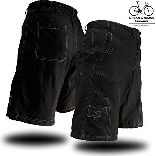 Men's Loose-Fit Padded Bike Shorts for Commuter Cycling or Mountain Biking - http://mountain-bike-review.net/products-recommended-accessories/mens-loose-fit-padded-bike-shorts-for-commuter-cycling-or-mountain-biking/ #mountainbike #mountain biking