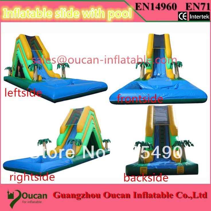 Открытый inflatabe слайд с бассейном, надувные водные горки, надувные замки и надувные горки для детей и freeshipping