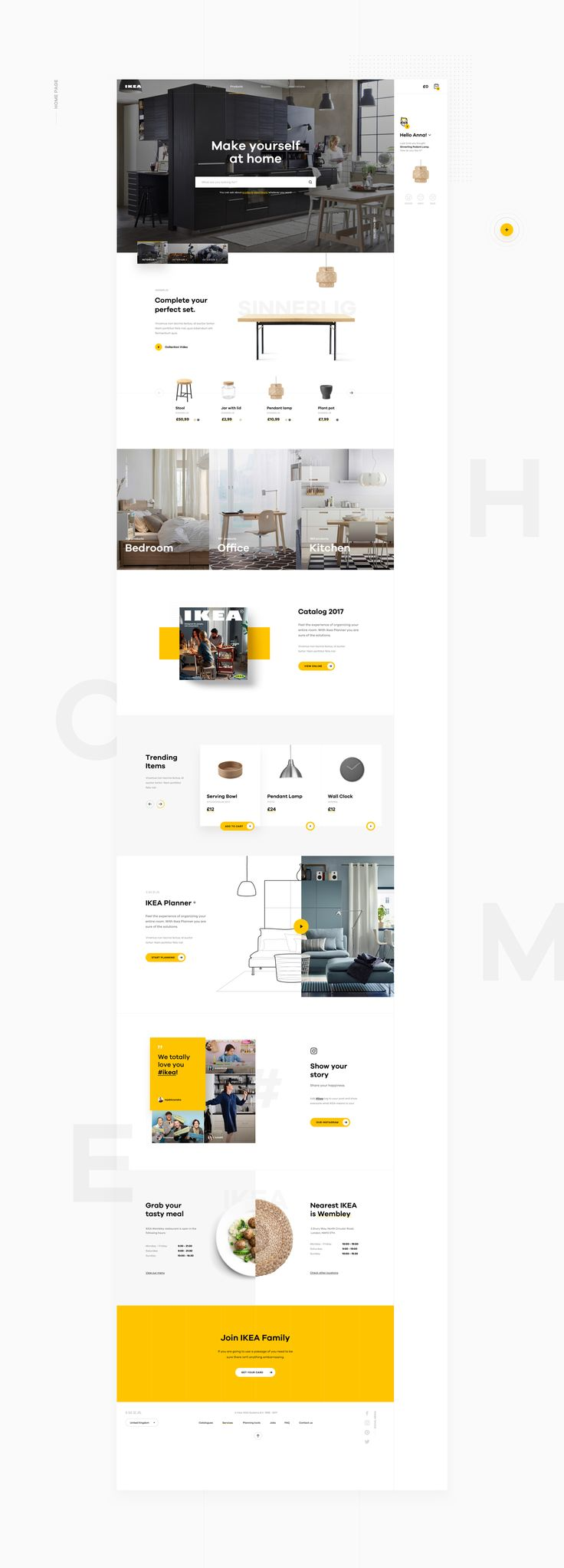 IKEA online experience redesigned – concept on Behance