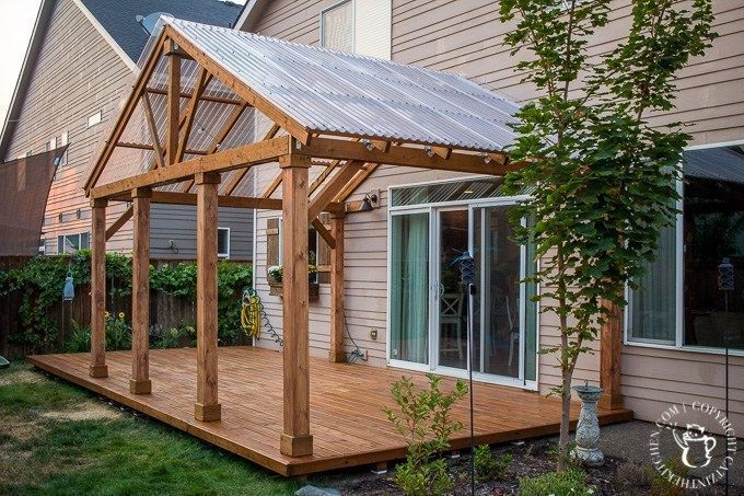 Ever Thought About Turning Your Concrete Slab Into A Covered Deck Its Definitely Doable Here Are Some Thoughts Tips P In 2020 Diy Deck Pergola Designs Patio Design