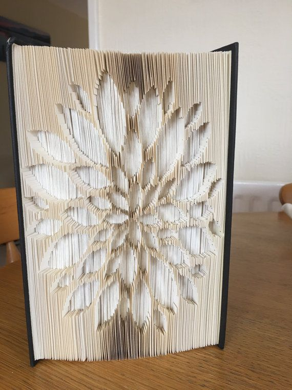 Flower with Petals   Cut and Fold Book Folding by IntoTheFoldUK