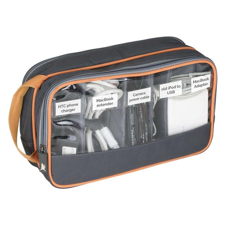 Cord and Cable Organizer front zip view