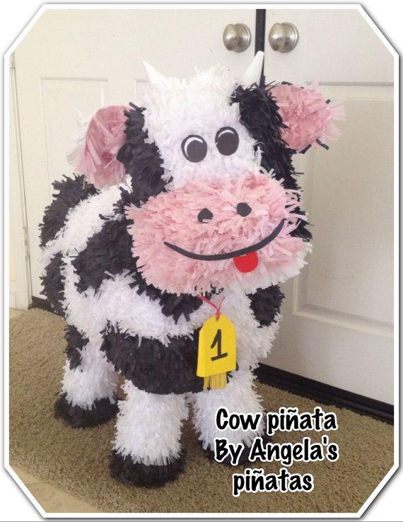 cow pinata by angelaspinatas on Etsy, $58.00 WWW.facebook.com/angelaspinatas