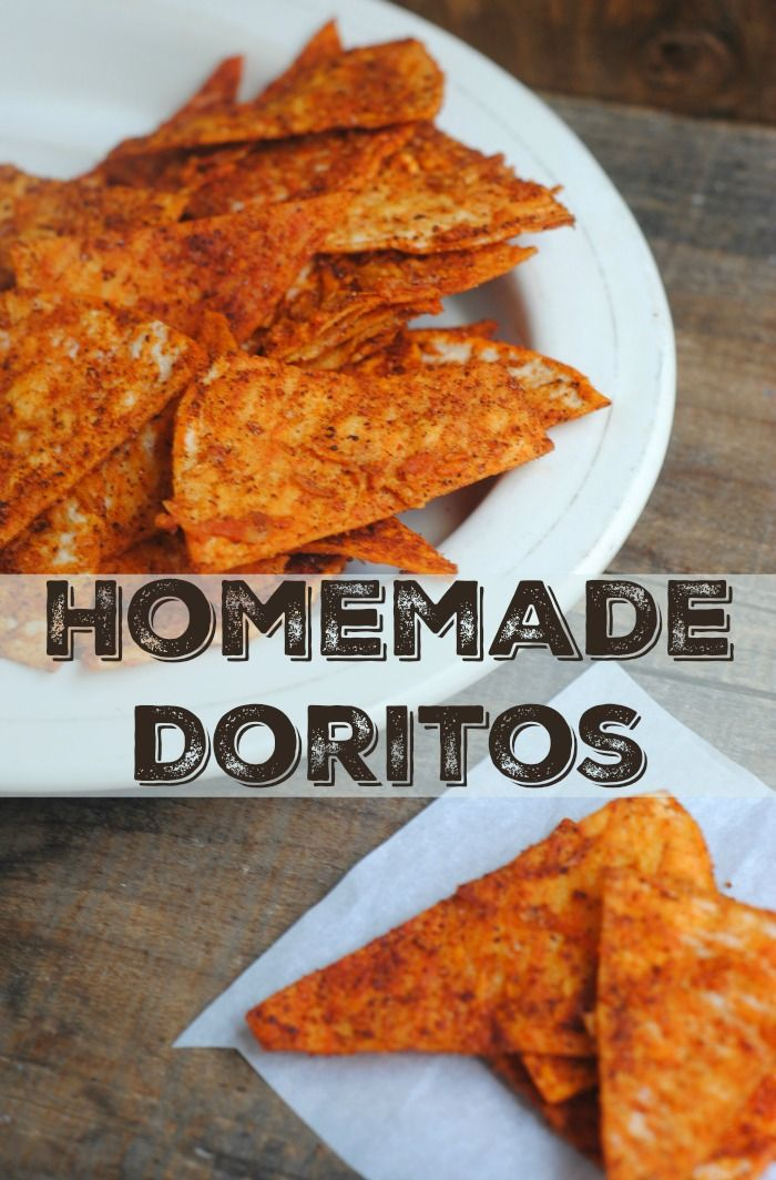 "Homemade Doritos Style Chips: 1 package of 6"" corn tortillas, any brand 2 tbs of olive oil or vegetable oil 3 tbs. parmesan cheese 1 ½ tsp. chili powder 1 ½ tsp. smoked paprika ½ tsp. salt"