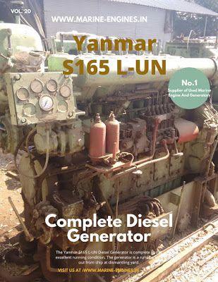 Yanmar S165 LUN used marine diesel generator for sale