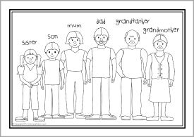 esl coloring pages family traditions - photo#18