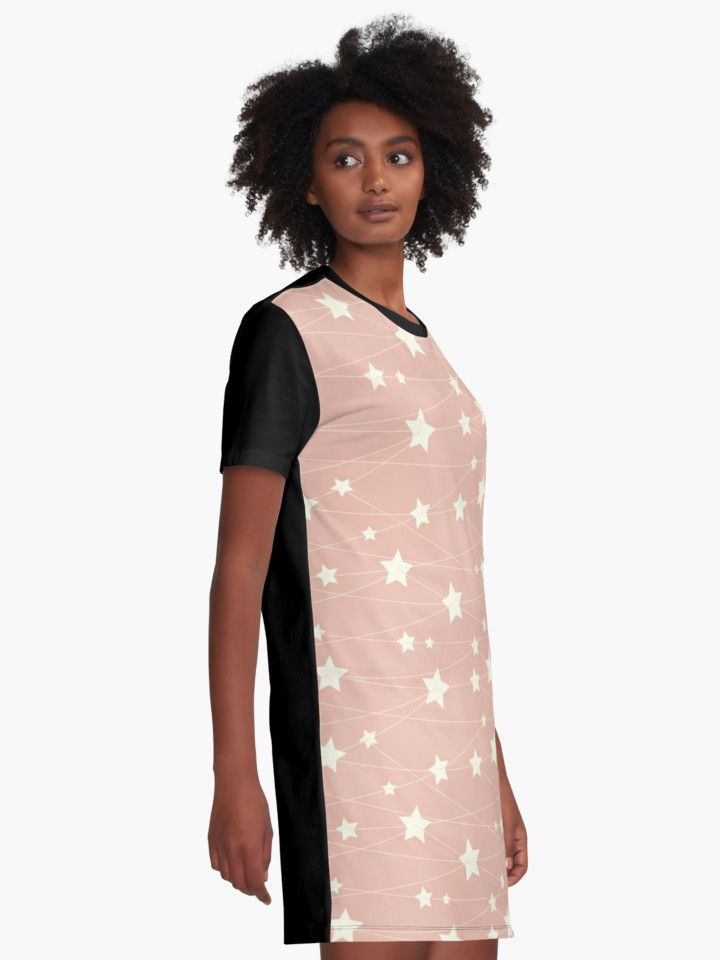 Hanging Stars - ashy pink by LunaPrincino  #redbubble #print #prints #art #design #designer #graphic #clothes #for #women #apparel #shopping #tshirt #tees #dress #fashion #style #pattern #texture #pretty #cute #beautiful #girlish #dreamy #hanging #stars #ashy #pink #and #cream #beige #fantasy #starry #pale #pastel #magic #gift #idea #trend #summer #spring
