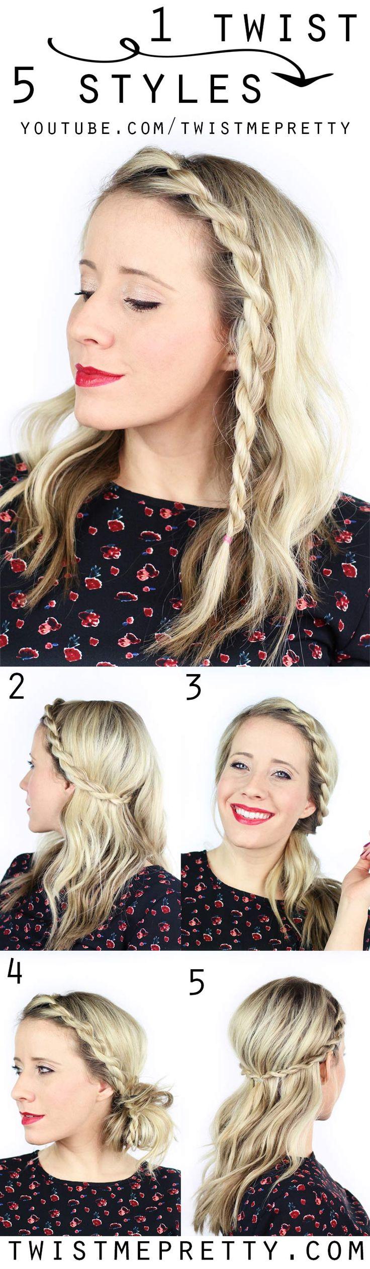 Best 25+ Twist hairstyles ideas on Pinterest | Simple hairstyles ...
