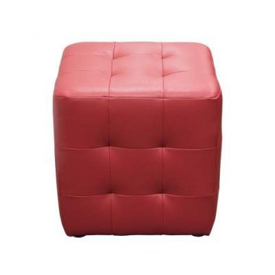 Zencubeottor Zen Collection Bonded Leather Tufted Cube