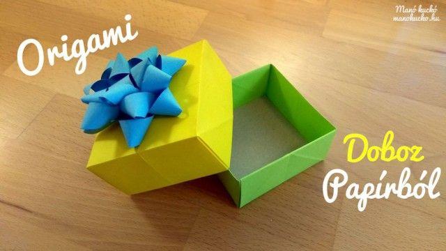 Papír ajándékdoboz készítése - Manó kuckó