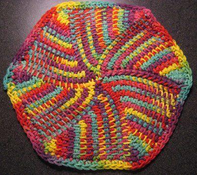 Entrelac Knitting Dishcloth Pattern : Top 25 ideas about Tunsian Crochet on Pinterest Crochet patterns, Tunisian ...
